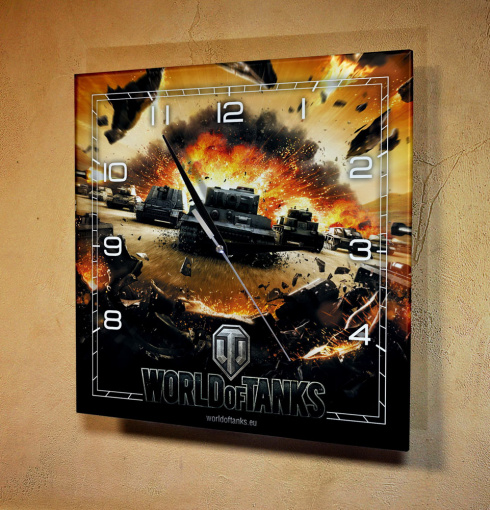 "Часы настенные ""World of tanks танк"""